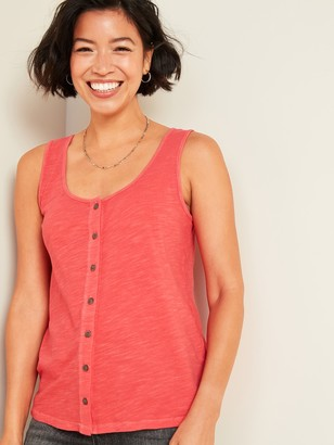 Old Navy Slub-Knit Button-Front Tank Top for Women