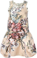Fendi floral print dress - women - Silk/Cotton/Polyester/Metallic Fibre - 38