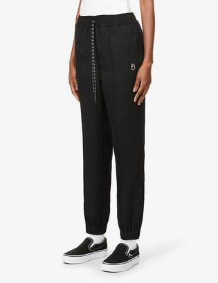 BAPE Tapered Easy high-rise jersey trousers