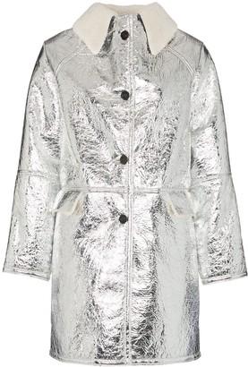 Kassl Editions shearling collar button-down coat