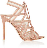 Gianvito Rossi Women's Caged Lace-Up Sandals-PINK