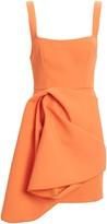 Acler Clarke Draped Crepe Mini Dress