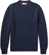 Brunello Cucinelli - Ribbed Mélange Virgin Wool, Cashmere And Silk-blend Sweater