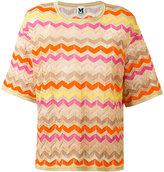 M Missoni zig-zag jumper - women - Cotton/Polyamide/Metallic Fibre - 44