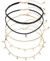Mudd Star & Moon Choker Necklace Set