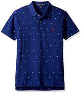 U.S. Polo Assn. Men's Big and Tall Printed Short Sleeve Classic Fit Pique Polo Shirt