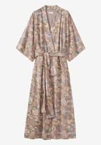 Toast Guan Print Crosshatch Cotton Kimono Gown