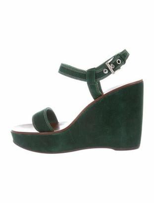 Prada Suede Sandals Green
