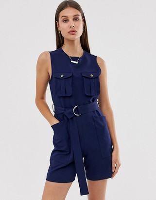 Asos sleeveless d-ring playsuit