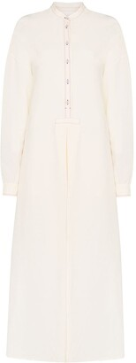 Jil Sander Marina collarless shirt dress