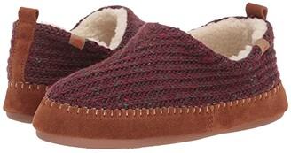 Acorn Camden Recycled Slipper (Garnet) Women's Slippers