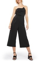 Topshop Women's Tie Twist Crop Jumpsuit