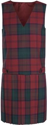 Unbranded Ashfold School Girls' Tartan Tunic Dress, Maroon