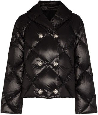 Balmain Button-Embellished Quilted Shell Puffer Jacket