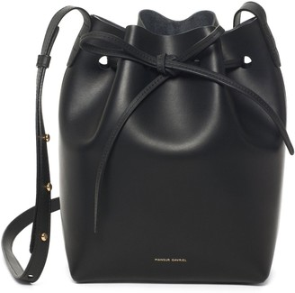 Mansur Gavriel Black Mini Bucket Bag - Raw