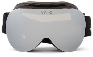 YNIQ Model Two Mirrored-lens Ski Goggles - Black Silver