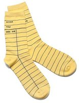 Out of Print Library Card Socks