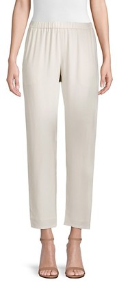 Eileen Fisher System Silk Georgette Slouchy Ankle Pants