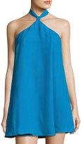Lucca Couture Elowen A-line Halter Dress, Teal
