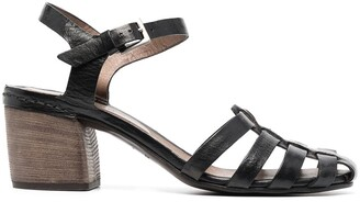 Del Carlo Heeled Leather Sandals