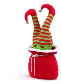 """Mr. Christmas 10"""" Mini Animated Christmas Kickers in Bag- Elf"""