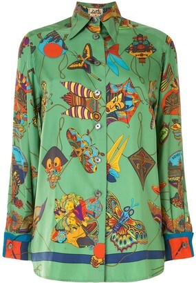 Hermes Pre-Owned Motifs Print Shirt