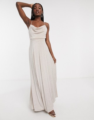 Forever U cowl-neck maxi dress in pink
