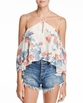 Olivaceous Strappy Halter Top