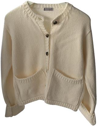 Margaret Howell White Wool Knitwear