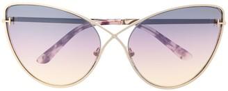Tom Ford Oversized Cat-Eye Degrade Sunglasses