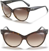 Dior Cat Eye Sunglasses with Logo on Temple