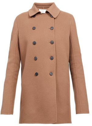 The Row Saku Double-breasted Cashmere Peacoat - Mid Brown