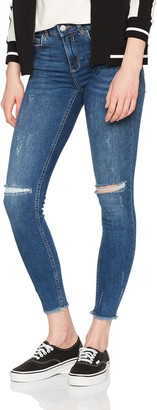 Pieces Women's Pcfive Delly DLX B187 Mw Skn Cr Mb/noos Skinny Jeans