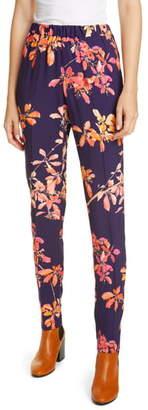 Dries Van Noten Palmira Floral Print Pull-On Pants