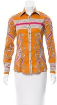 Etro Paisley Printed Button-Up Top
