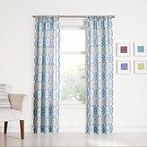 "Lapis No. 918 Callie Medallion Print Rod Pocket Curtain Panel, 40"" x 63"", Blue"