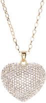 Love Rocks Pave Crystal Heart Pendant Necklace