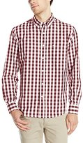 Dockers Long Sleeve Gingham Button Down Collar Spade Pocket Shirt