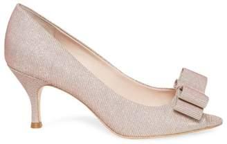Kate Spade Cecilia Glitter Peep Toe Pumps