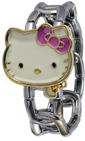 Hello Kitty #HK1738 Women's Cat Face Covered Stretch Bangle Bracelet Watch