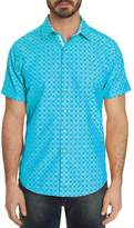 Robert Graham Diamante Short-Sleeve Abstract-Print Classic Fit Shirt