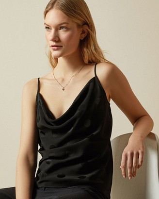 Ted Baker Spotted Cowl Neck Cami Top