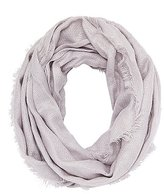 Charlotte Russe Fringed Waffle Stitch Infinity Scarf
