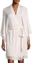 Eberjey Enchanted Lace-Trim Kimono Robe, White