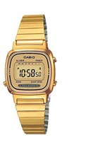 Casio Women's LA670WGA-9 Gold Stainless-Steel Quartz Watch with Dial