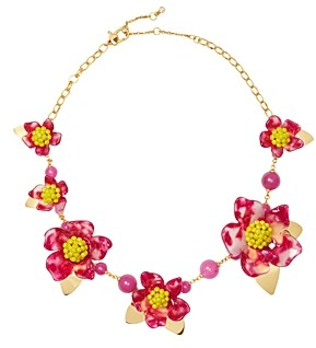 Kate Spade Botanical Garden Resin Flower Statement Necklace, 18