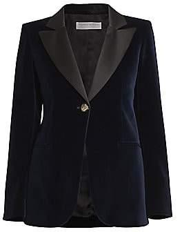 Victoria Beckham Women's Single Breasted Fitted Velvet Jacket