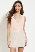 Forever 21 FOREVER 21+ Crisscross Tie-Back Top