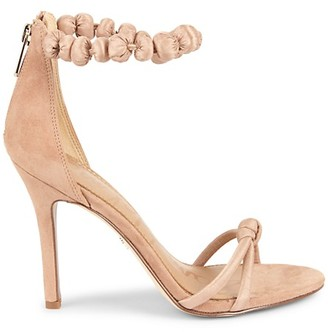 Sam Edelman Aria Suede High Heel Ankle-Strap Sandals