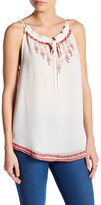Willow & Clay Embroidered Keyhole Tank